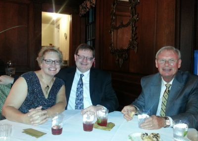 Vice President of FOHR, Randy Hilton, enjoyed dessert with the Reverends Melanie and Phil McCarley