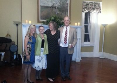 Walter Washington, President of FOHR, introduced his cousins. Washington family descendants. (L toR, Nancy Spenseley, Carla Alexander, Sarah Brown and W. Washington