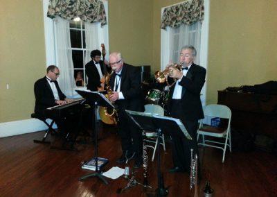 Evening music in the Claymont ballroom