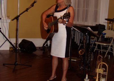 """Katherine (""""Clissy"""") Funkhouser entertained at the Ball with her singing of """"West Viginia you are my Home"""" by Ms. Hazel Dirkens."""