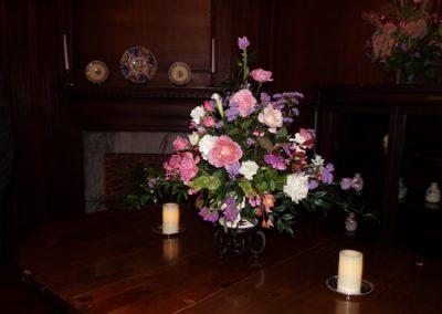 Harvest Ball Floral decorations were arranged around the mansion.