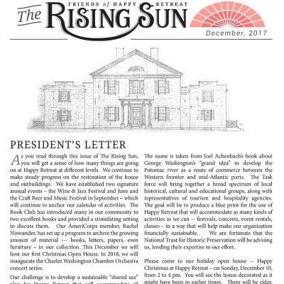 December 2017 Rising Sun Newsletter