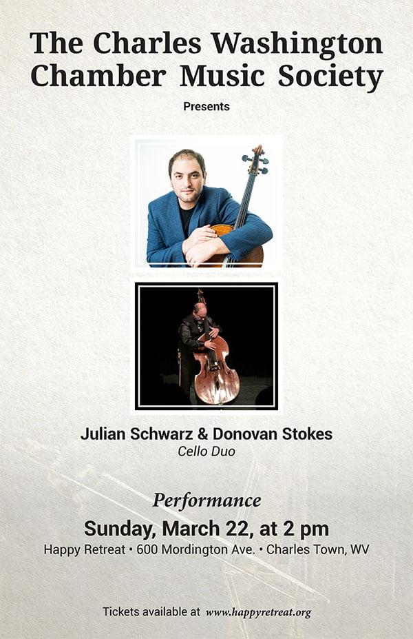 CANCELLED: Julian Schwarz & Donovan Stokes, Cello Duo
