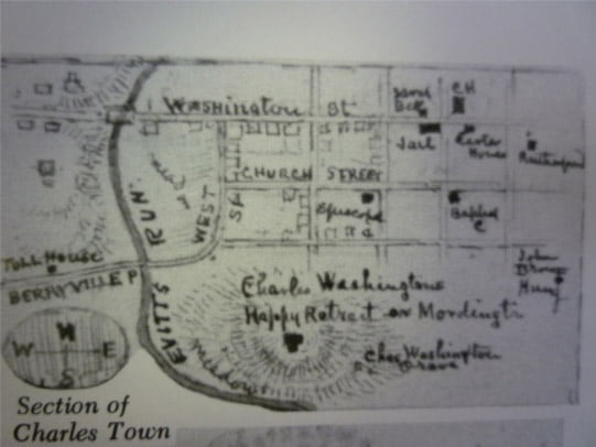 Charles Town historic map
