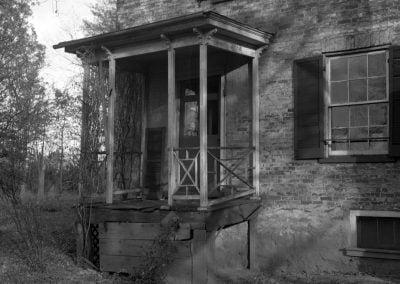West side of Happy Retreat looking toward front 1945