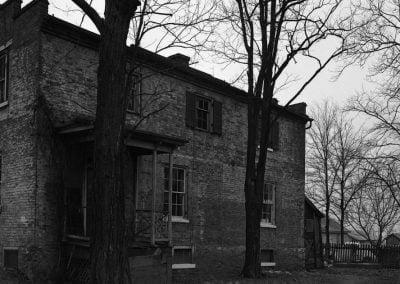 West side of Happy Retreat looking toward back area 1945