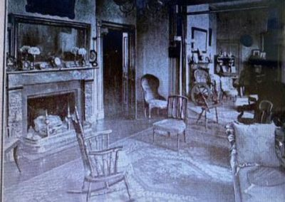 Inside Happy Retreat's right (West) Parlor before 1920