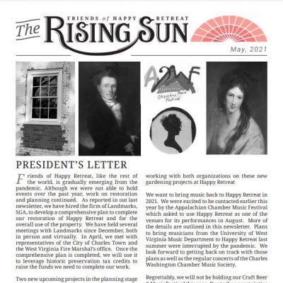 May 2021 Rising Sun Newsletter